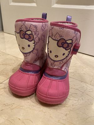 Hello kitty toddler snow boots for Sale in Sunnyvale, CA