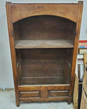 Vintage/ antique cabinet hutch no doors beautiful wood for Sale in Davie, FL