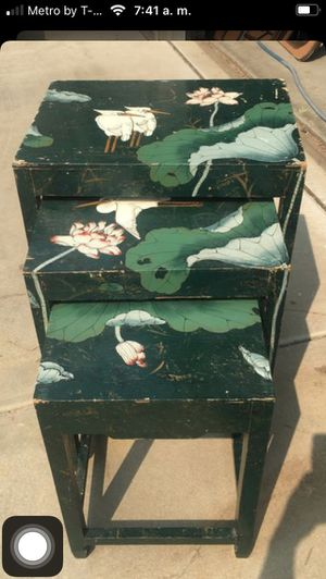 3 tables antique for Sale in Perris, CA