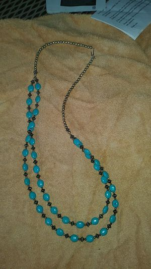 Turquoise Genuine Sterling Silver Bead Necklace for Sale in Glendale, AZ