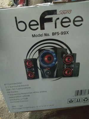 BeFree speaker system 2.1 channel surround sound system for Sale in Windsor Hills, CA