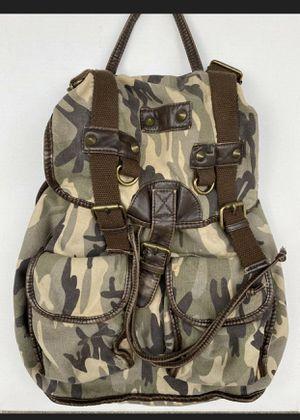Zumiez Canvas Camouflage Rucksack Bookbag Casual Travel Backpack for Sale in Redondo Beach, CA