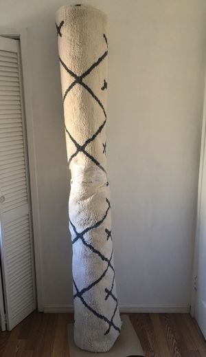 Project 62 7 ft x 10 ft Kenya Fleece Tribal Design Tufted Area Rug Cream for Sale in Long Beach, CA
