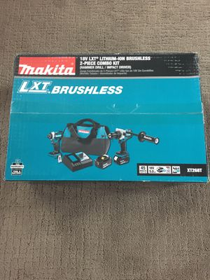 Makita 18-Volt LXT Lithium-ion Brushless Cordless 2-piece Combo Kit (Hammer Drill/ Impact Driver) 5.0Ah for Sale in Lemont, IL