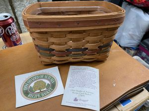 1994 Longaberger Shades of Autumn Recipe Basket for Sale in Chicago, IL