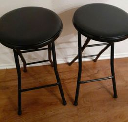 Bar Stool Color Black Great Condition Both For $35pick Up Only for Sale in Anaheim,  CA
