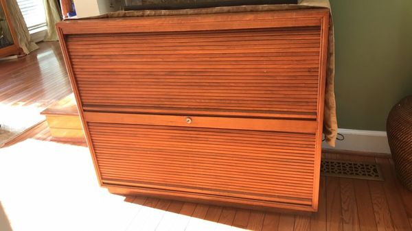 Antique roll top filing cabinet-Must Go!