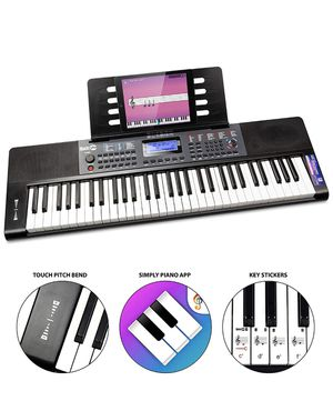 RockJam, 61-Key RJ461 61-Key Portable Electric Keyboard Power Supply, Sheet Music Stand and Pitch Bend, 61 Key Follow me for more electronic for Sale in Nashville, TN