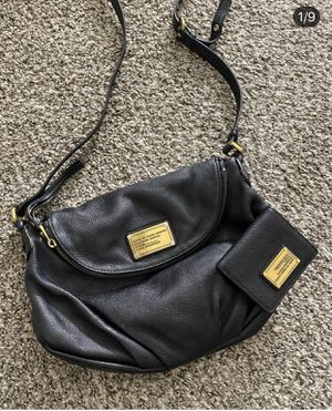 Marc Jacobs authentic bag and wallet black leather purse for Sale in Las Vegas, NV