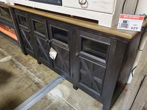 Extra Large TV Stand, Dark Grey for Sale in Santa Ana, CA