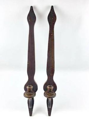 Pair of Vintage Wooden Wall Candle Holders/Wall Decor for Sale in New Port Richey, FL