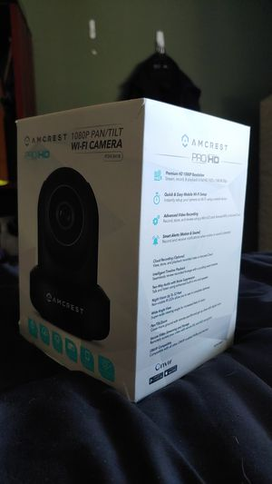 Amcrest 1080p pan tilt wireless ip camera for Sale in San Jose, CA