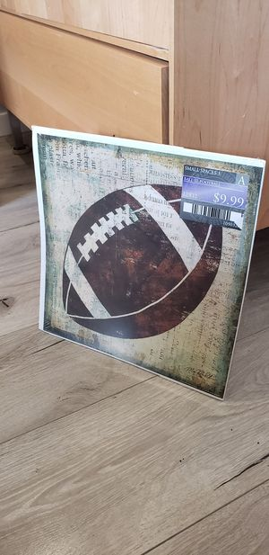 Football sport wall art home decoration 12 x 12 for Sale in Ontario, CA