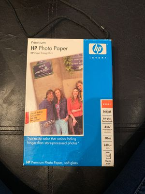 HP Photo Paper new in box. 100sheets for Sale in Fort McDowell, AZ