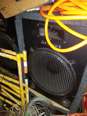Optimus sub woofers slightly used for Sale in Excelsior Springs, MO