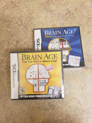 Game Lot wii Brain age ds And Brain Age 2 (Factory Sealed) (New Lot) for Sale in Pittsburg, CA