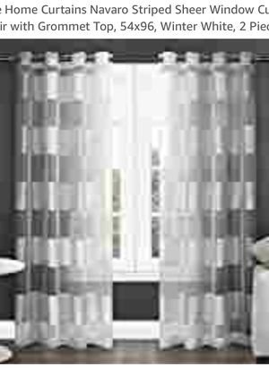 Sheer curtains for Sale in Fontana, CA