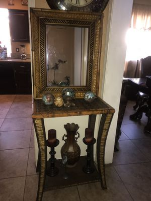 Bamboo vanity with mirror for Sale in Upland, CA