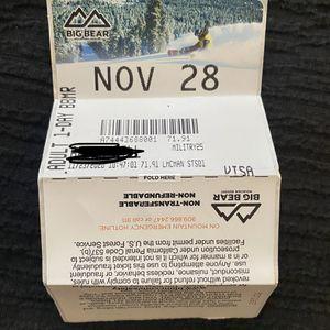 Big Bear Lift Ticket for Sale in Big Bear, CA