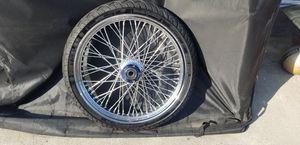 """Harley-Davidson 21"""" spoke rims with tire for Sale in Covina, CA"""