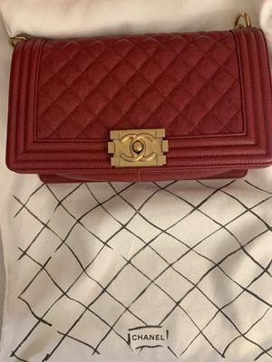 Med Boy Chanel Burgundy Bag for Sale in Fremont, CA
