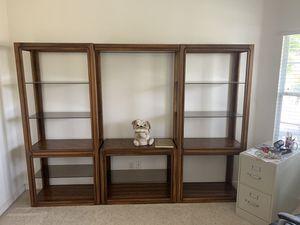 Wooden glass shelves for Sale in Fresno, CA