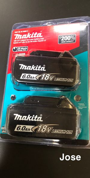 Makita 18-Volt LXT Lithium-Ion 6.0 Ah Battery (2-Pack) includes 2 baterias el paquete each for Sale in Garden Grove, CA