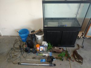 Complete 60 gallon fish tank and filtration for Sale in Grand Junction, CO