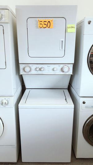 Whirlpool small Stackable Washer and 220vl ELECTRIC ⚡️ Dryer for Sale in Long Beach, CA