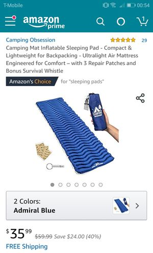 Camping mat inflatable sleeping pad- brand new for Sale in Naperville, IL