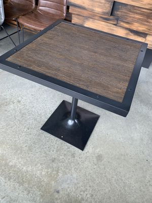 Wooden table with metal frame for Sale in Clovis, CA