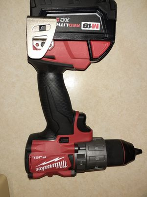Milwaukee m18 hammer drill and battery $230 with battery an charger obo will also sell tool only 150 obo for Sale in West Linn, OR