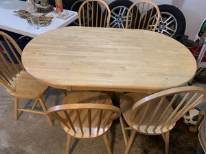 Wooden kitchen table and chairs for Sale in Itasca, IL