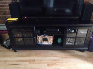 """60"""" black console/tv stand for Sale in Boston, MA"""