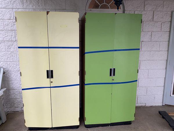 Pair of Locker Closets Storage Cabinets