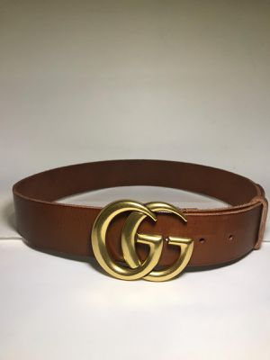 Gucci Brown Leather GG Marmont Belt *Authentic for Sale in Queens, NY