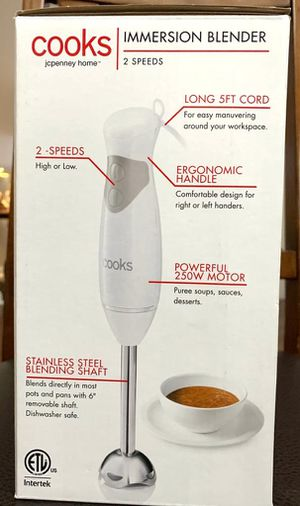 Brand new JCPenney Cooks immersion blender for Sale in Fort Mill, SC