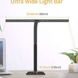 24W Office Desk Lamp with Architect Clamp 32 '' Ultra Wide Workbench Light Bar with Flexible Gooseneck Sewing Table Lamp for Sale in Ontario, CA