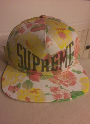 Supreme floral 5-panel hat for Sale in McLean, VA