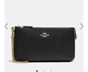 Large coach wristlet brand new in packaging in black original price $150 for Sale in Antioch, CA