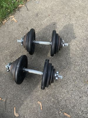 Dumbbells 74 total LBS for Sale in Joliet, IL