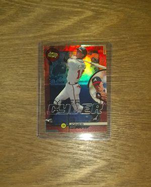 Chipper Jones Upper Deck Ionix Baseball Card #C7 Mint Condition for Sale in Nashville, TN