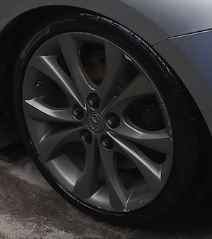 17 inch rims 5x114 new tires trade for bigger rims 5x114 for Sale in Tampa, FL