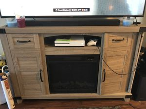 TV Stand With Built in Fireplace for Sale in Waldorf, MD