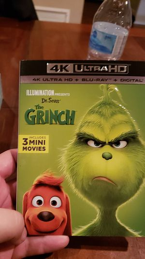 The grinch 4k blu ray combo brand new sealed for Sale in Buena Park, CA