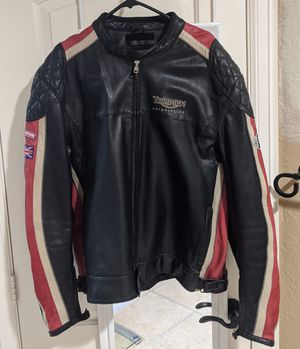 Triumph Genuine Leather Motorcycle Jacket for Sale in Spring, TX