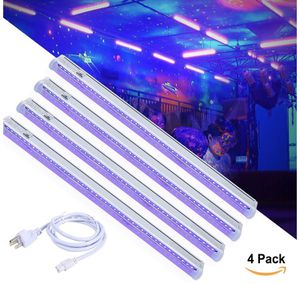 NEW! T5 UV LED Black Light Bar Fixtures Built-in ON/Off Switch, 4 Pack DJ Blacklight Bar Safe Party UV Light, 24W, UL Listed Plug for Sale in Stuart, FL