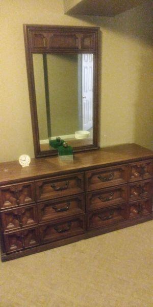 Large bedroom dresser and mirror+ Tall bedroom dresser for Sale in Denver, CO