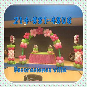Hacemos Decoraciones Con Globos For Sale In Dallas TX