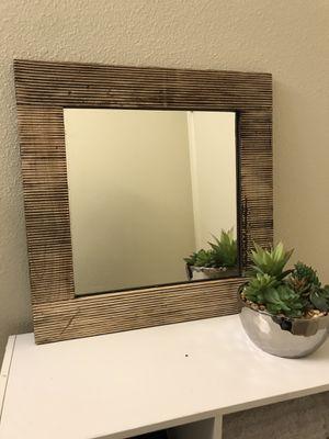 Rustic wood mirror for Sale in Scottsdale, AZ